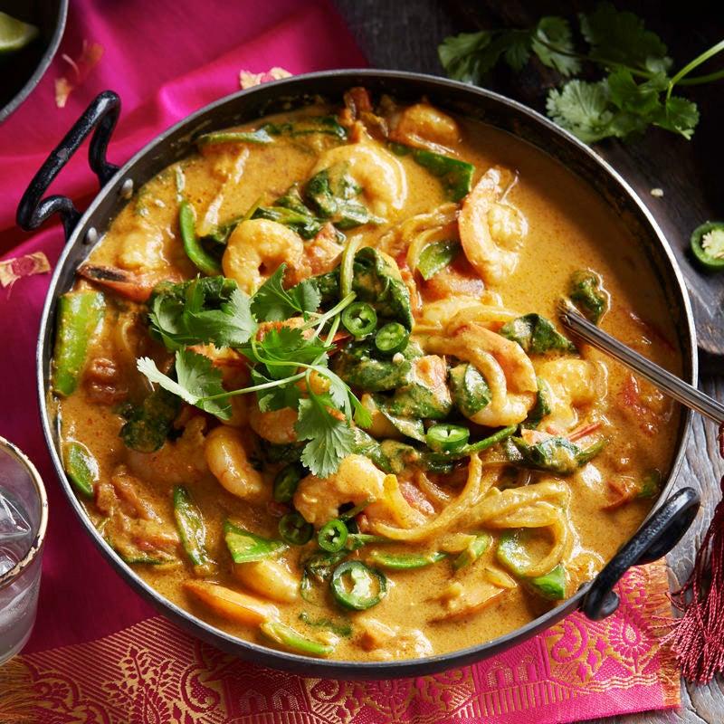 Photo of Goan prawn curry with jewelled rice by WW