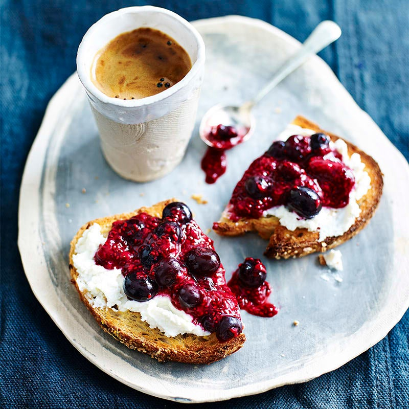 Photo of Ricotta and chia berry jam on toast by WW