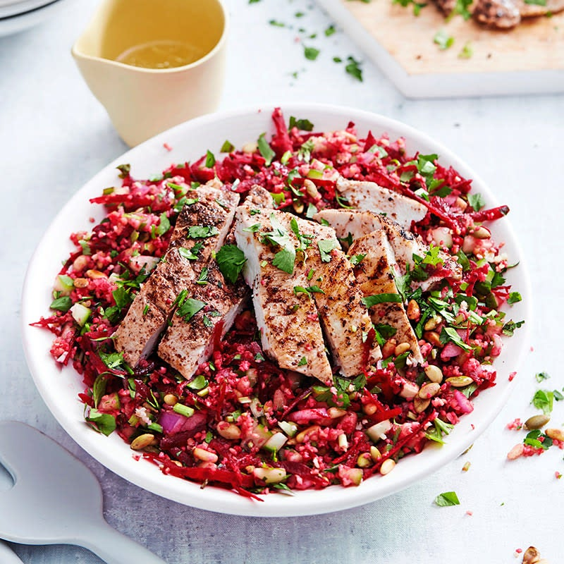 Photo of Purple tabouli with chicken by WW
