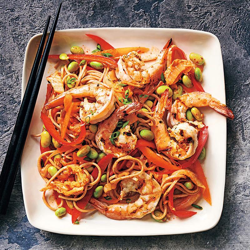 Photo of Kimchi soba with prawns and edamame by WW