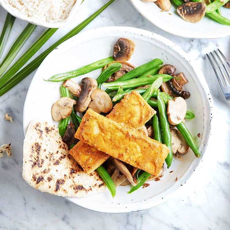 Photo of Tikka tofu with mushrooms and beans by WW