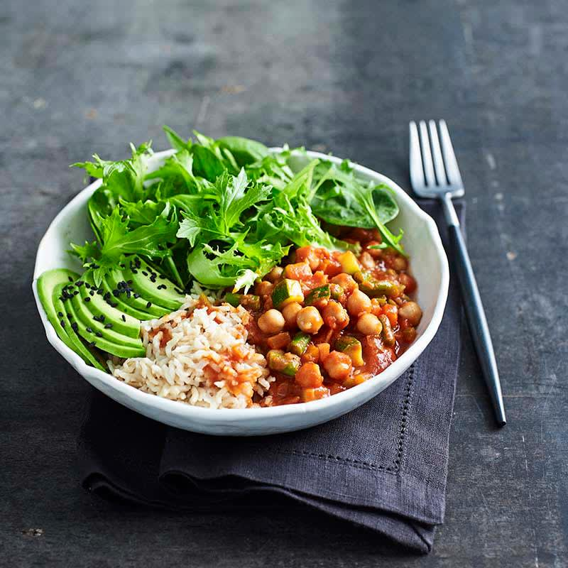 Photo of Spicy vegetarian chickpea and vegie bowl by WW