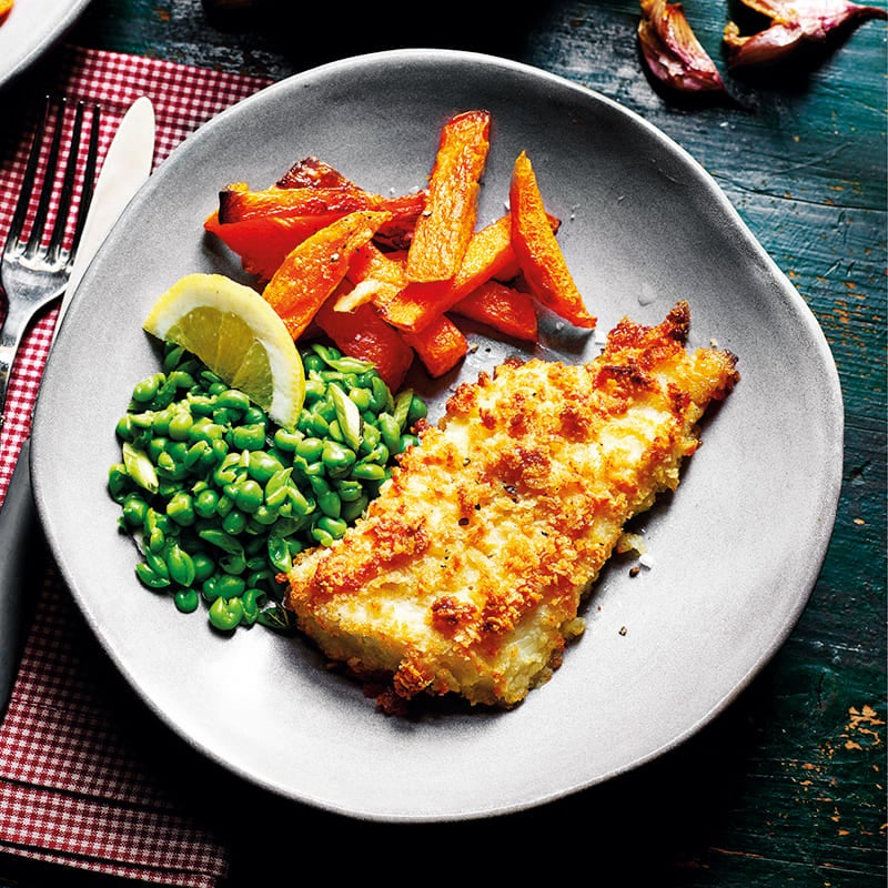 Photo of Crumbed fish with pumpkin chips by WW