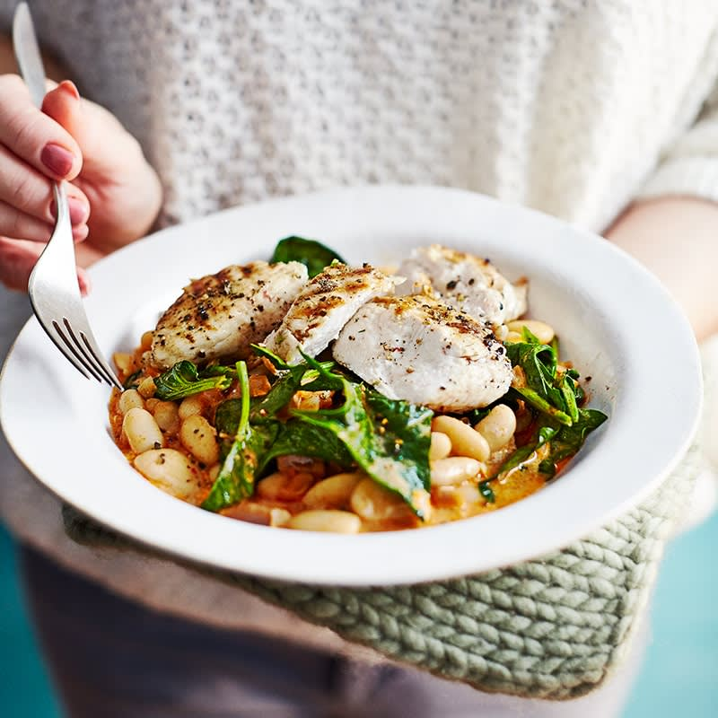Photo of Chargrilled chicken with smoky beans and spinach by WW