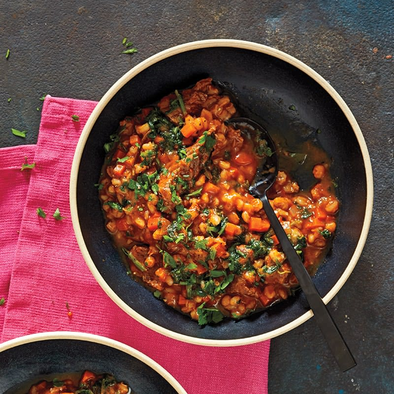 Photo of Slow-cooker hearty beef and barley stew by WW