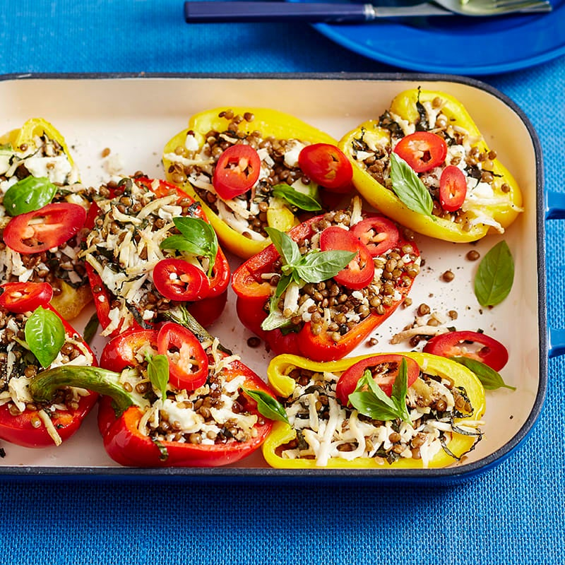 Photo of Barbecued stuffed capsicums with lentils and feta by WW
