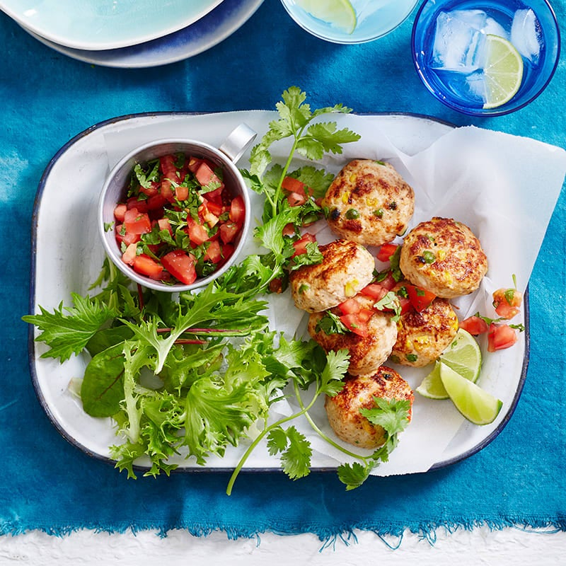 Photo of Mexican chicken patties with salsa by WW