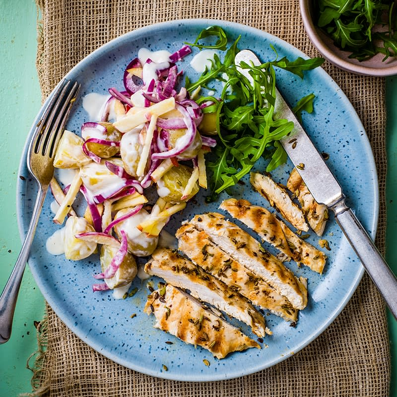 Photo of Fennel chicken with apple and potato salad by WW