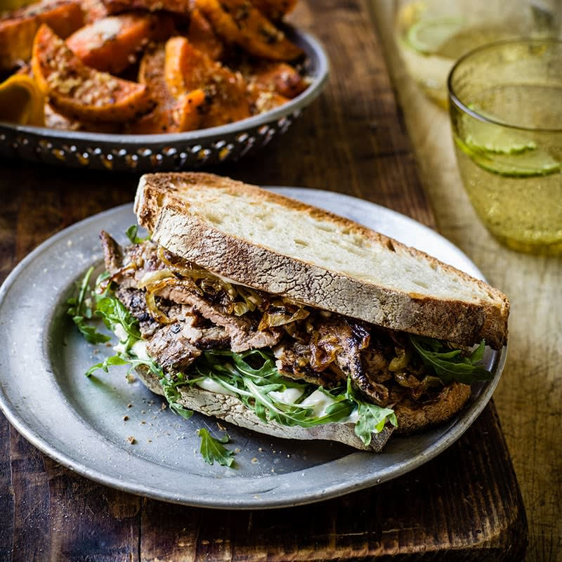 Photo of Steak and caramelised onion sandwiches by WW
