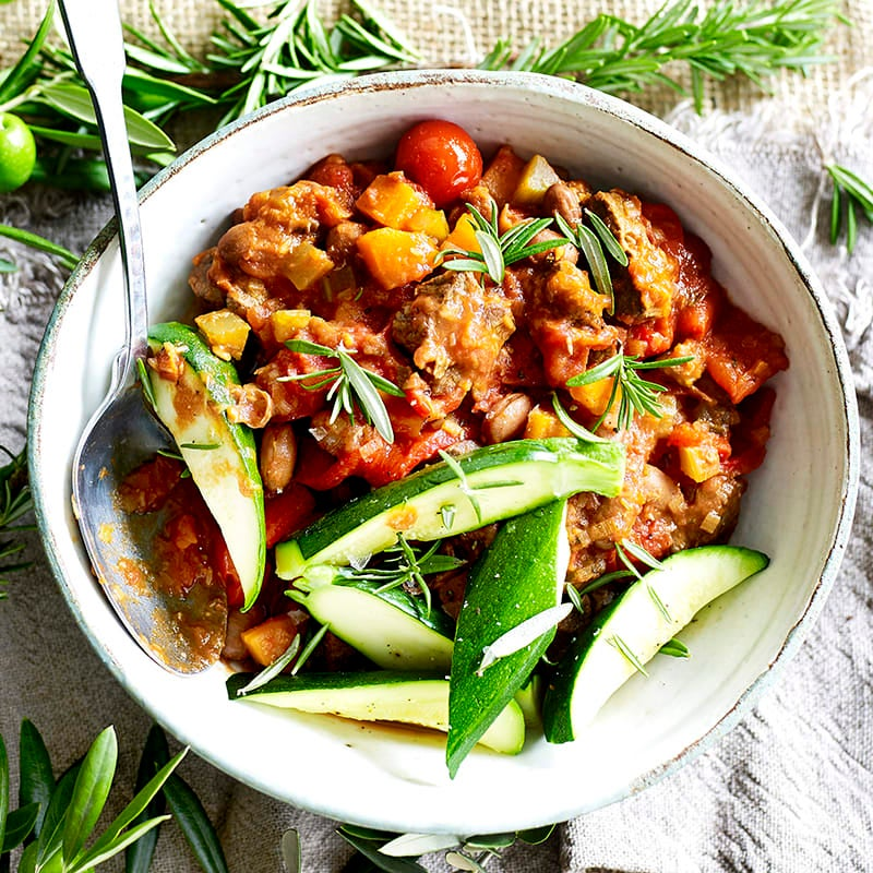 Photo of Braised lamb with borlotti beans, rosemary, leek and roasted capsicum by WW