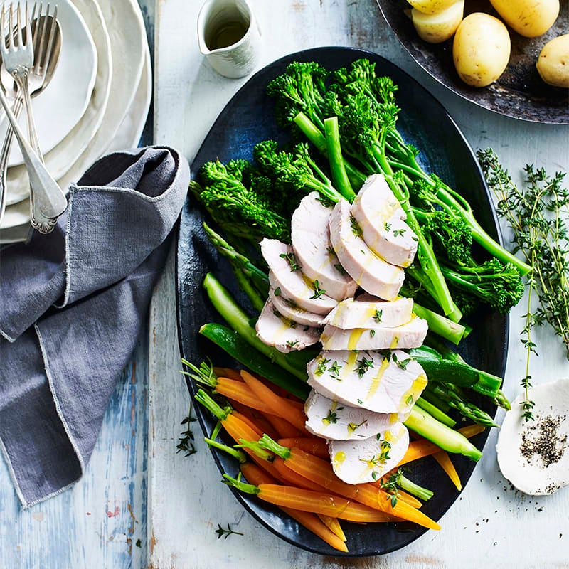 Photo of Poached chicken with spring vegies by WW