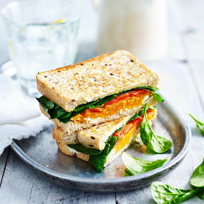 Photo of Roasted pumpkin, ricotta and spinach toastie by WW