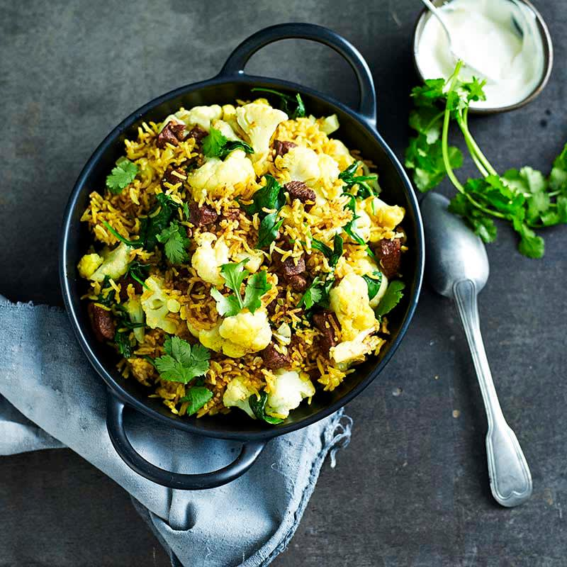 Photo of Indian lamb and cauliflower pilaf by WW