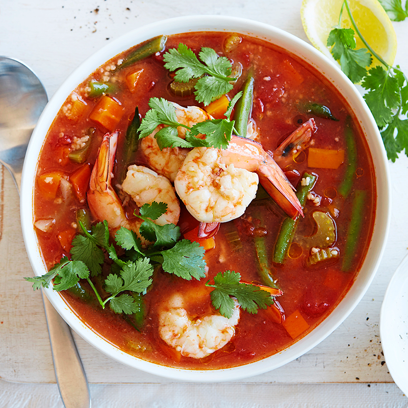 Photo of Couscous soup with prawns by WW
