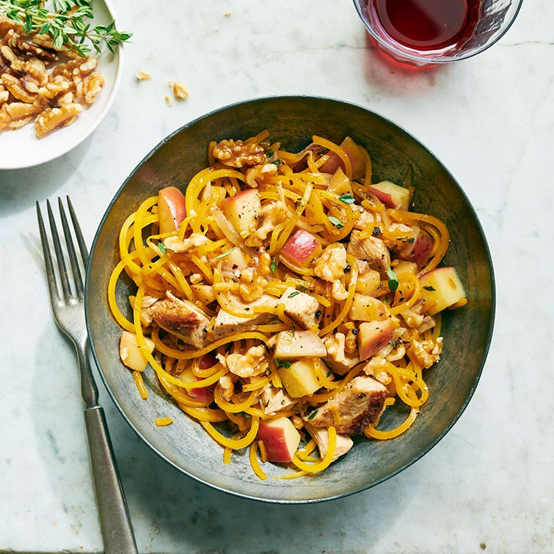 Photo of Butternut pumpkin noodles with chicken, apples and thyme by WW