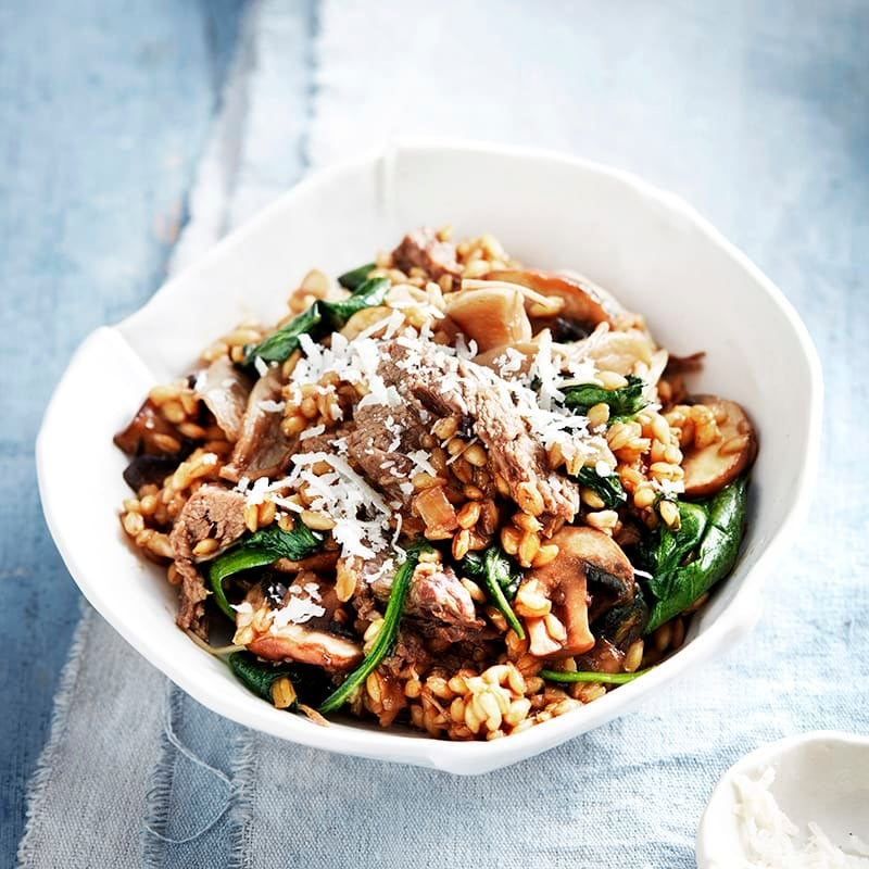 Photo of Beef and mixed mushroom barley risotto by WW