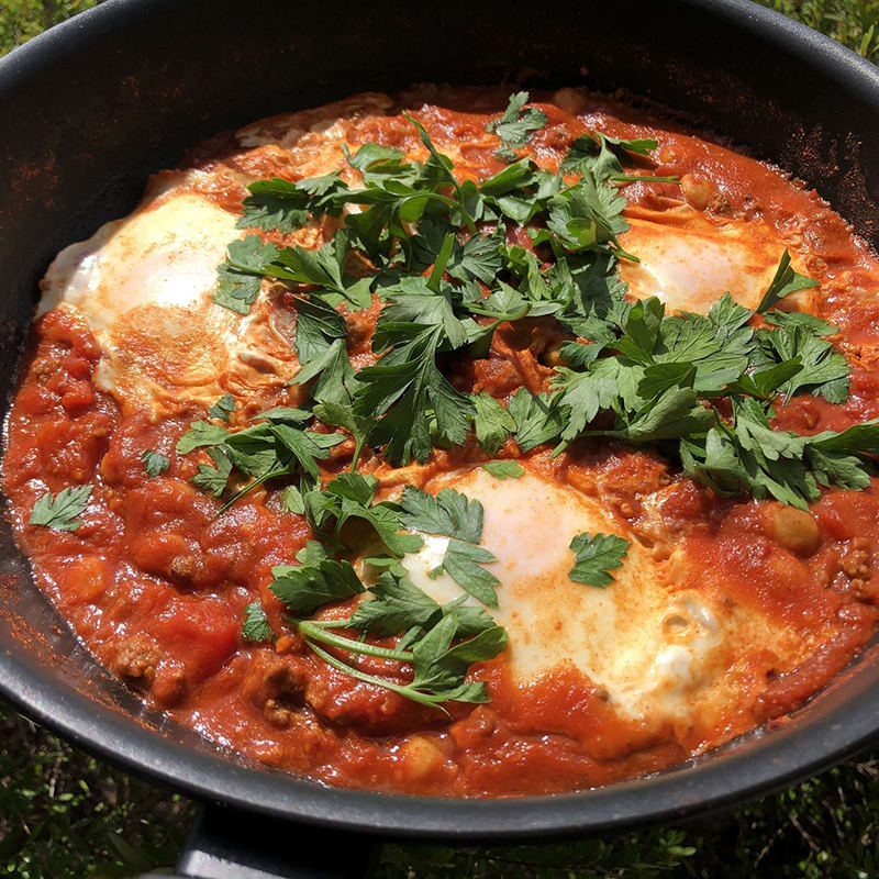 Photo of Sarah's one-pan Moroccan eggs by WW