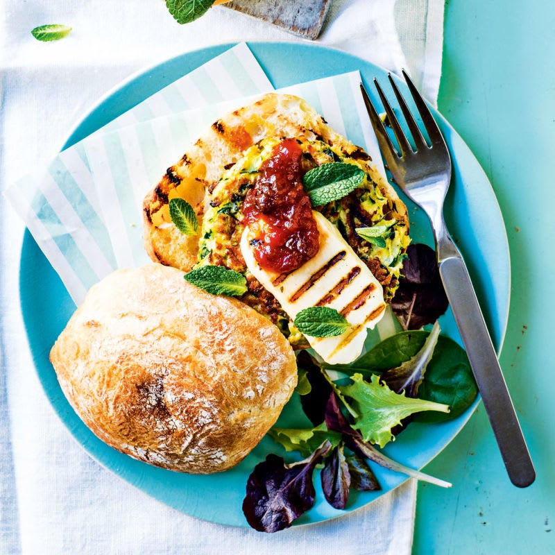 Photo of Vegetarian zucchini and haloumi burger by WW