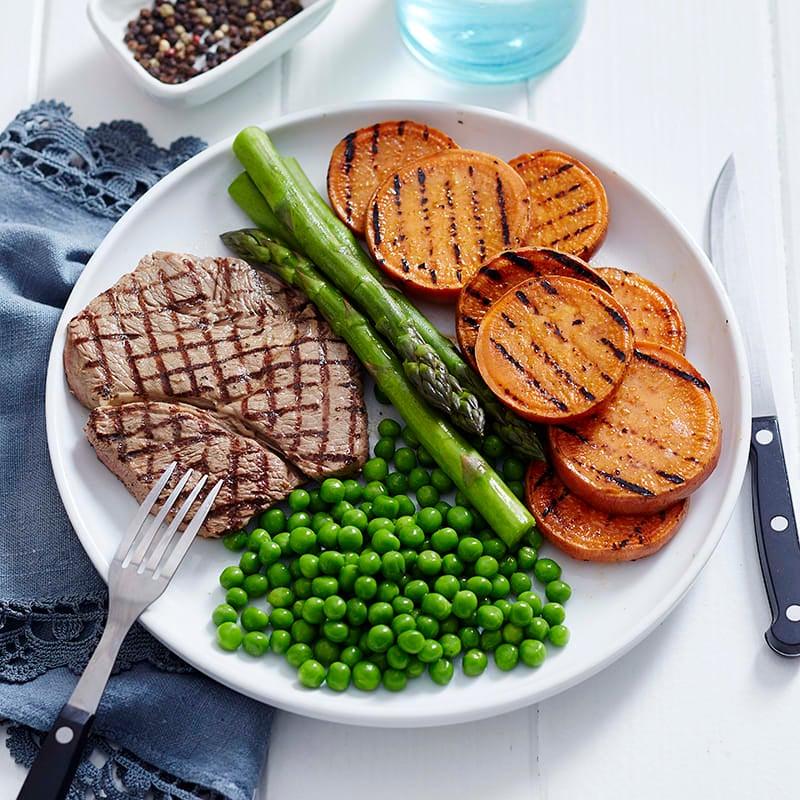 Photo of Mustard steak and 3 veg by WW