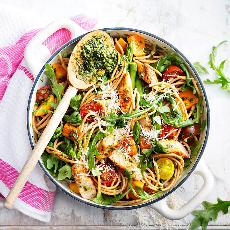 Photo of One pot spaghetti with pumpkin and pesto by WW