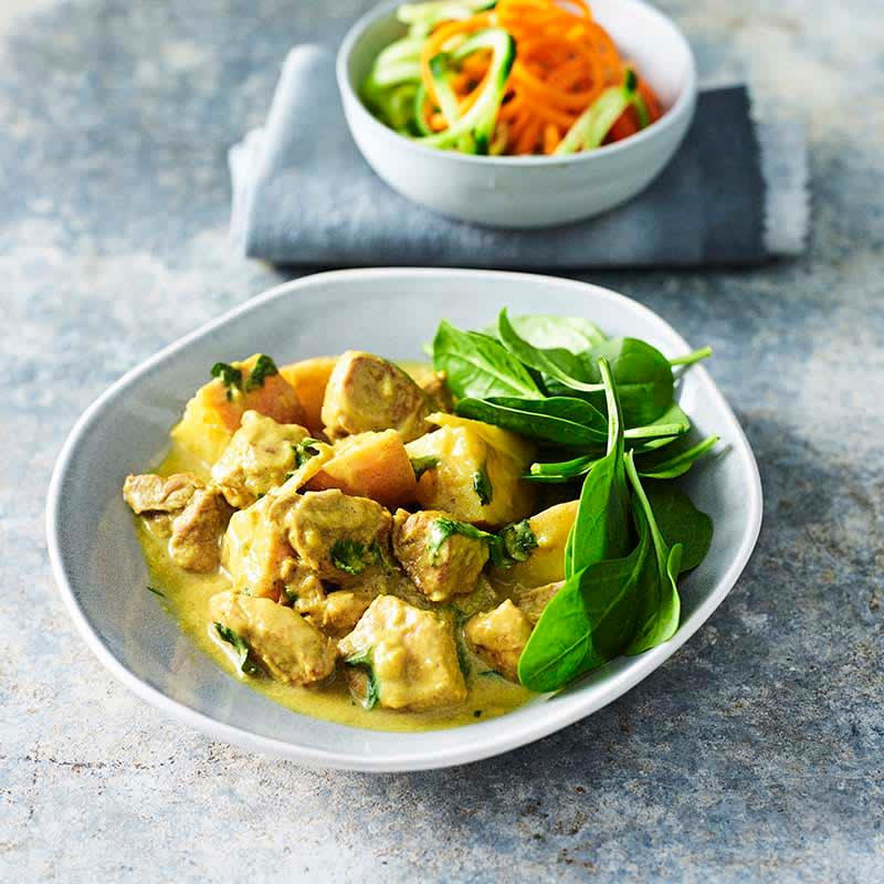 Photo of Pork and potato coconut curry by WW