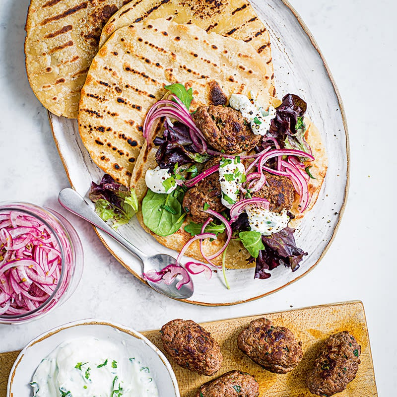 Photo of Beef kofta flatbreads with lemon yoghurt by WW