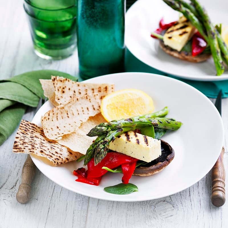 Photo of Mushroom and haloumi stack by WW