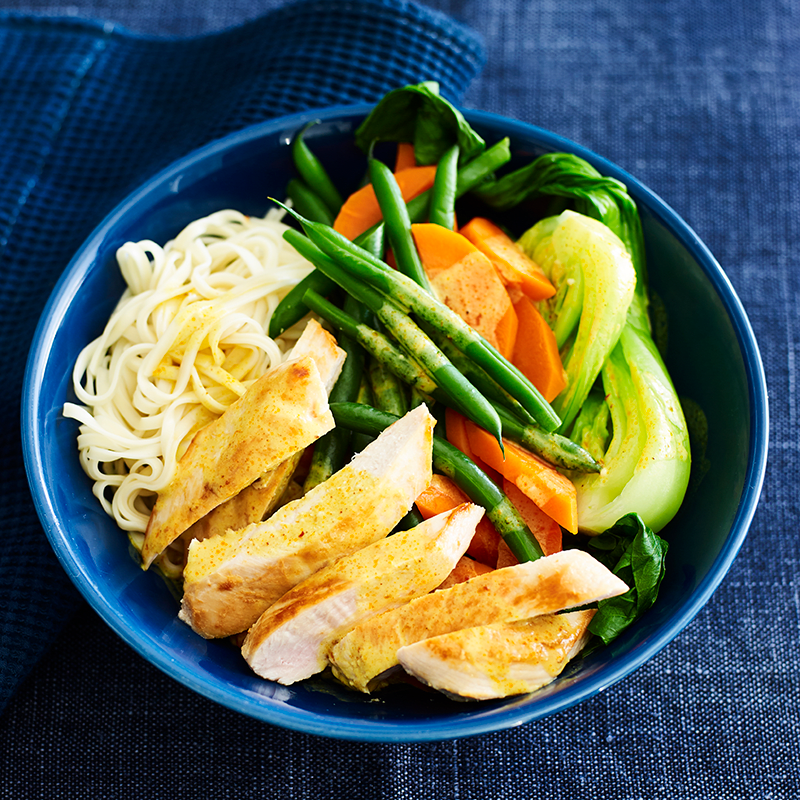 Photo of Chicken with yellow curry sauce and noodles by WW
