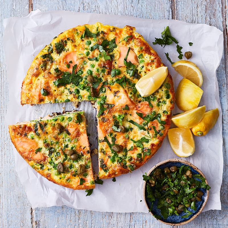 Photo of Salmon, pea and lemon frittata by WW