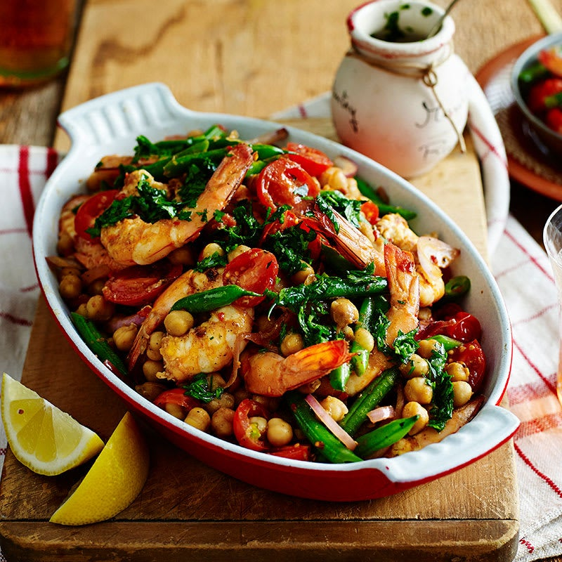 Photo of Chilli and garlic prawns with parsley dressing by WW