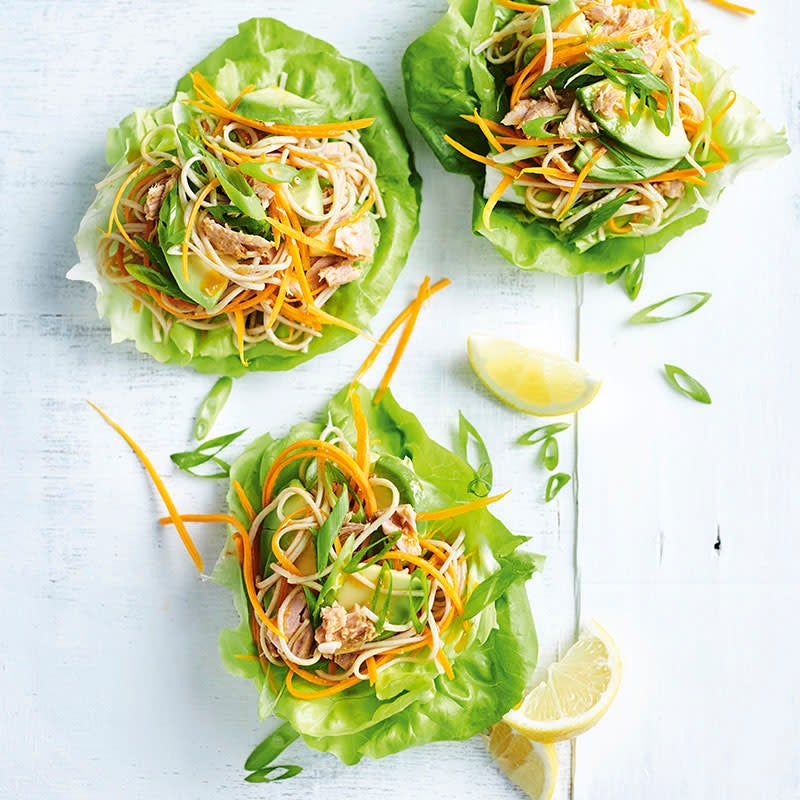 Photo of Tuna and soba noodle lettuce wraps by WW