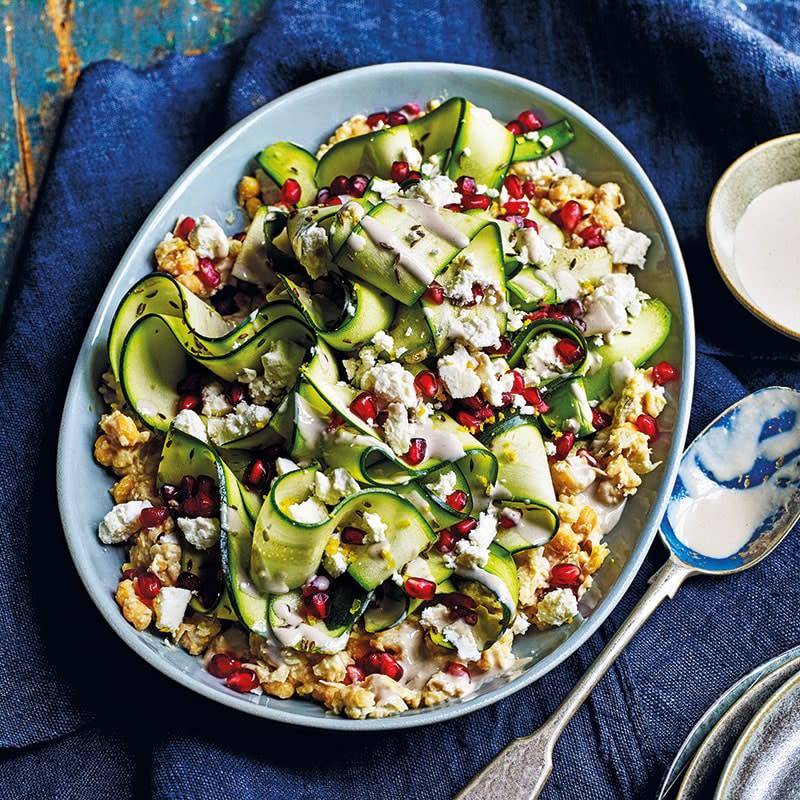 Photo of Smashed chickpeas with zucchini and feta by WW