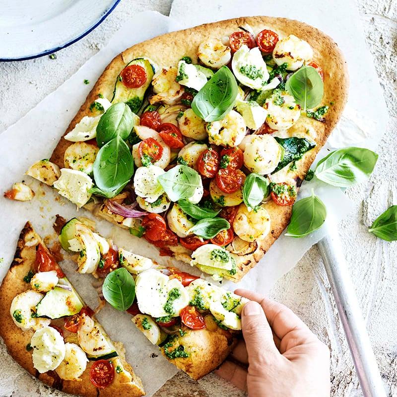 Photo of Prawn and pesto pizza by WW