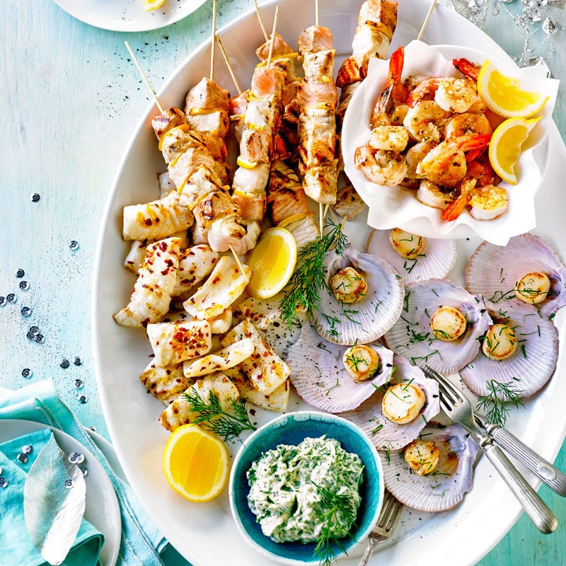 Photo of BBQ seafood platter by WW