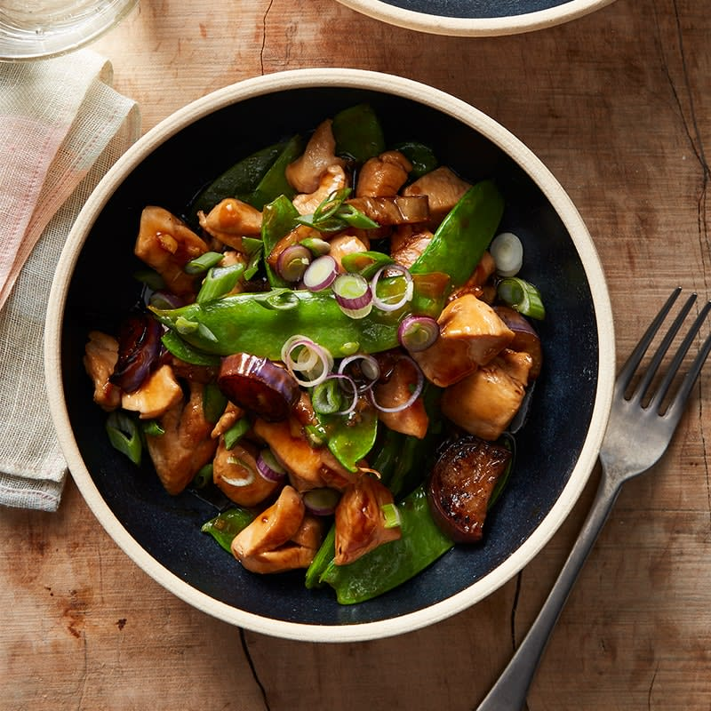 Photo of Chicken and eggplant stir-fry by WW