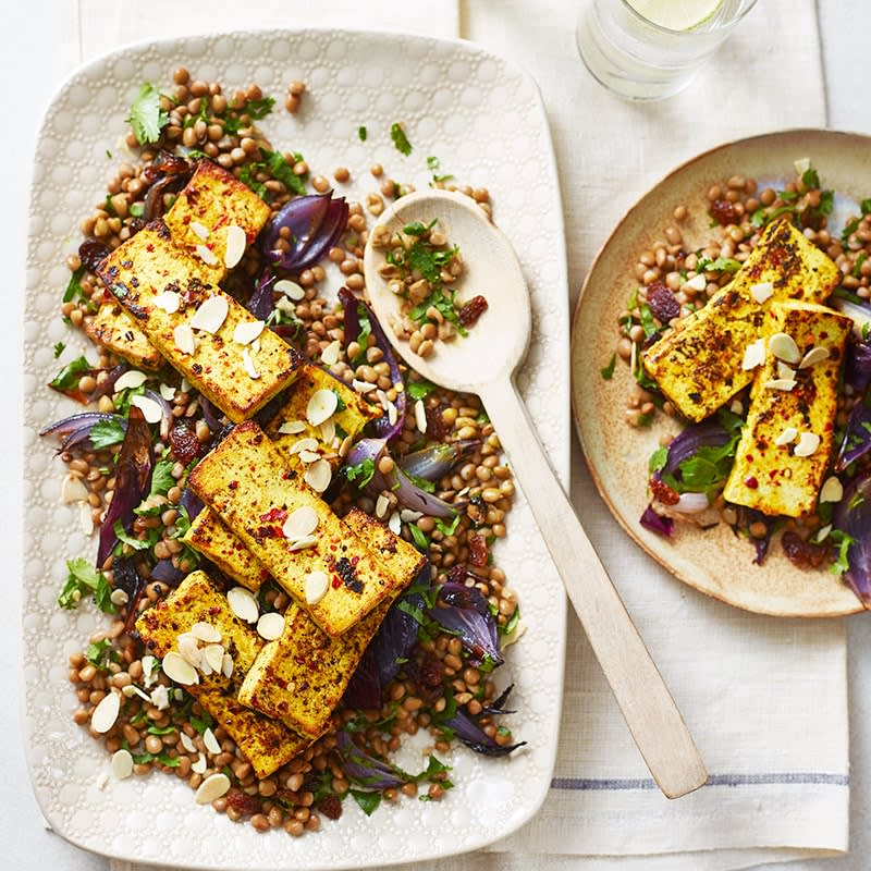 Photo of Turmeric tofu with lentil salad by WW