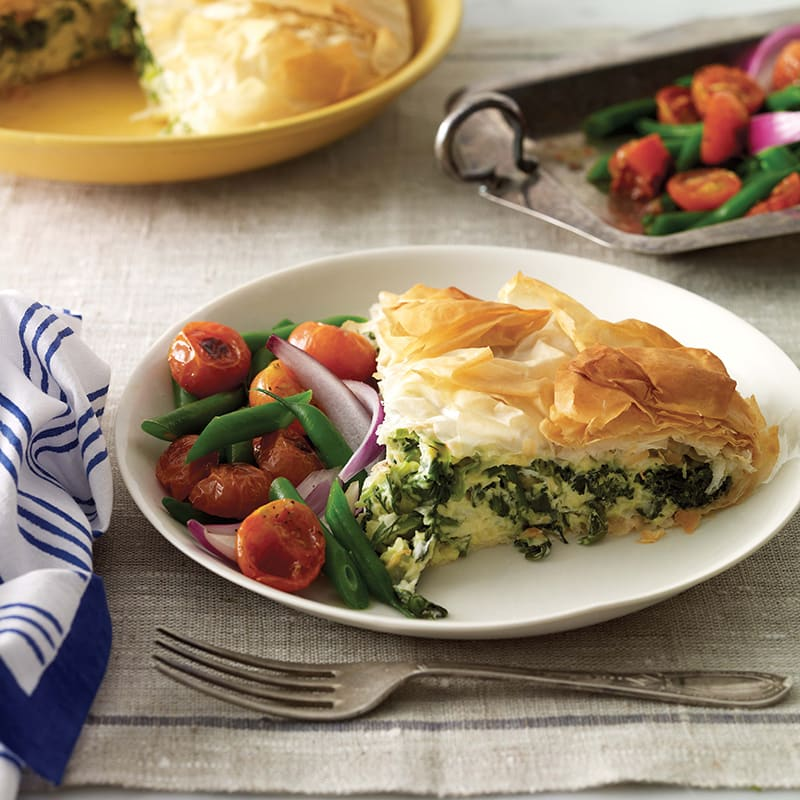 Photo of Spanakopita (Greek cheese and spinach pie) by WW
