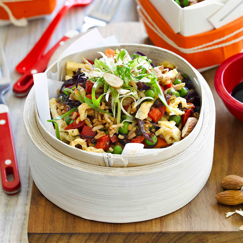 Photo of Fried rice with egg, peas and almonds by WW