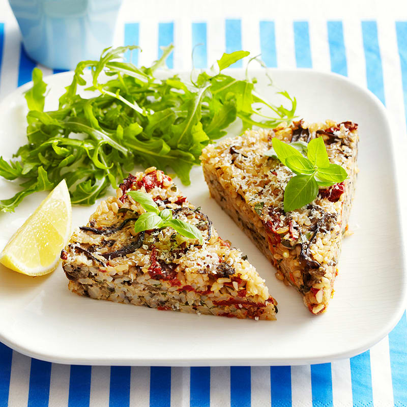 Photo of Eggplant, tomato and basil rice cake by WW