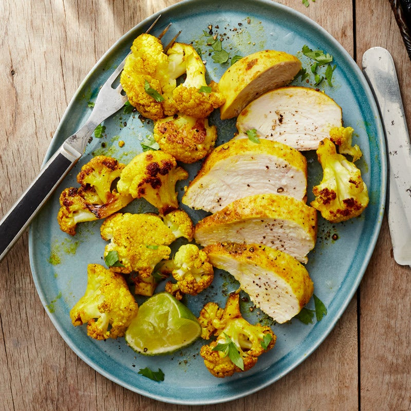 Photo of Roasted chicken breast with spiced cauliflower by WW