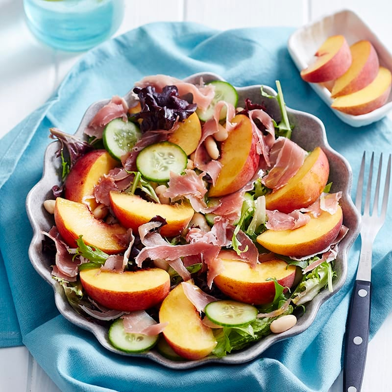 Photo of Peach and prosciutto salad by WW