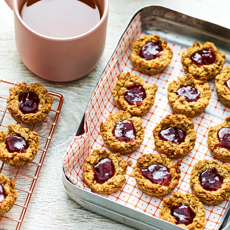 Photo of Peanut butter and jam muesli bites by WW