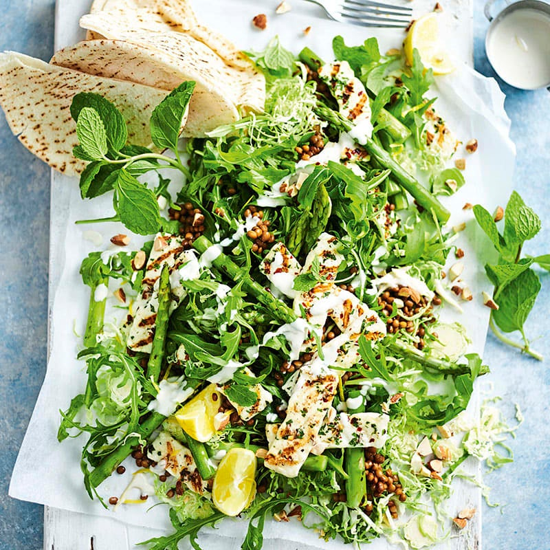 Photo of Haloumi, asparagus and Brussels sprouts salad by WW