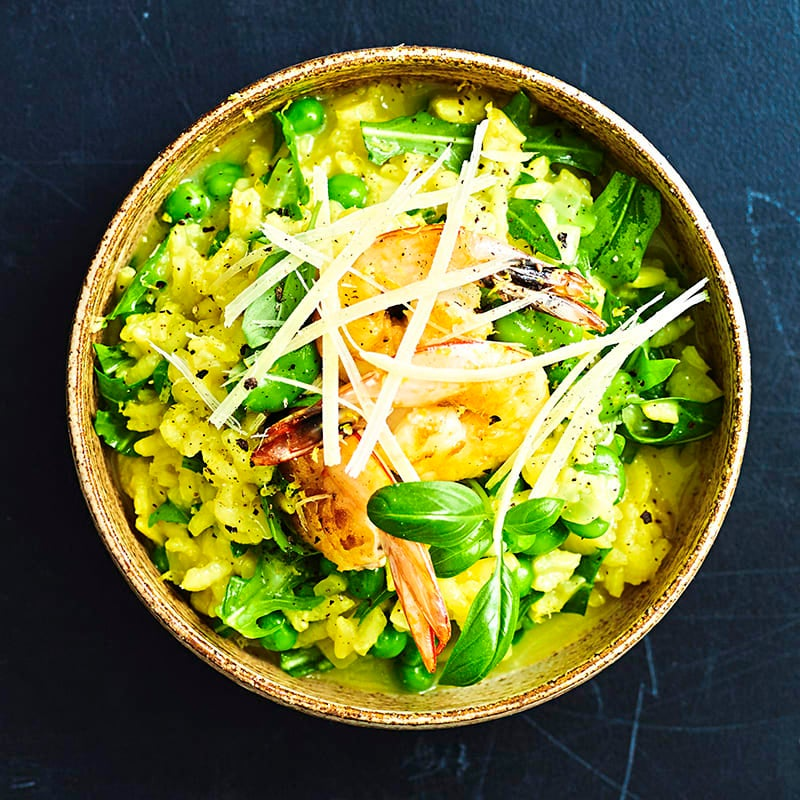 Photo of Risotto primavera with prawns by WW