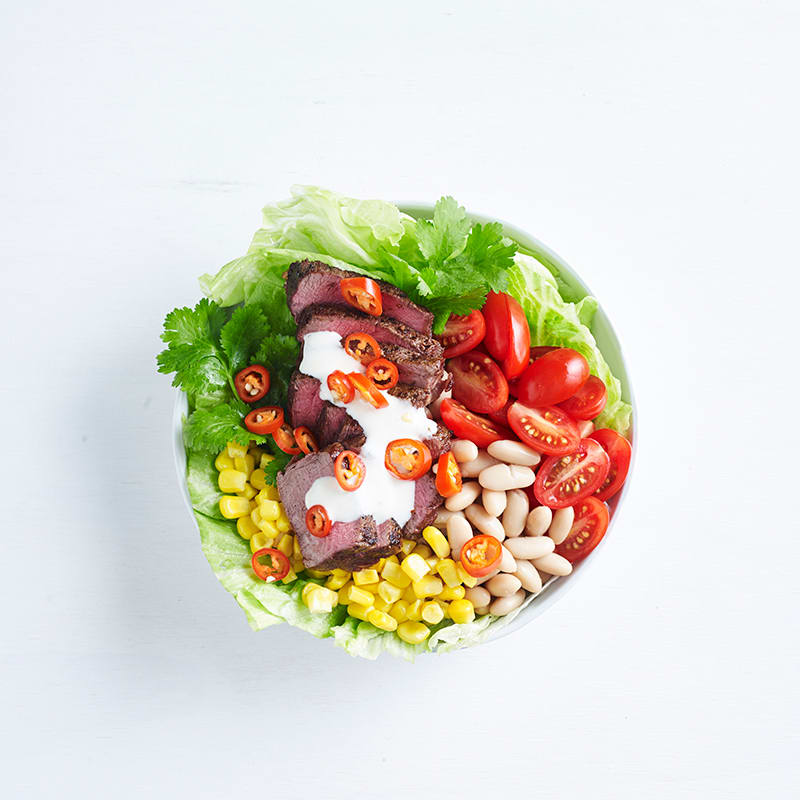 Photo of Moroccan beef and lettuce bowl by WW