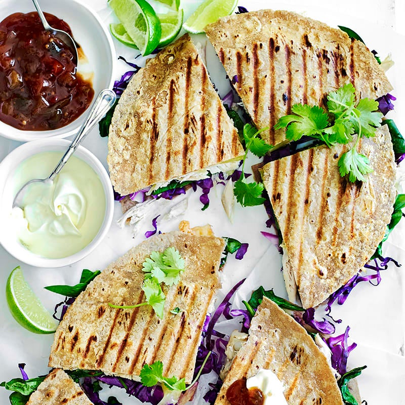 Photo of Chicken and barley quesadillas by WW