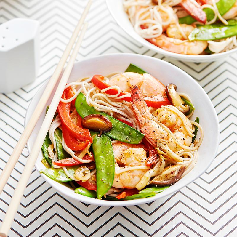 Photo of Teriyaki prawn and soba noodle stir-fry by WW