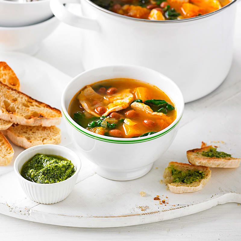 Photo of Chicken, pumpkin and bean soup by WW