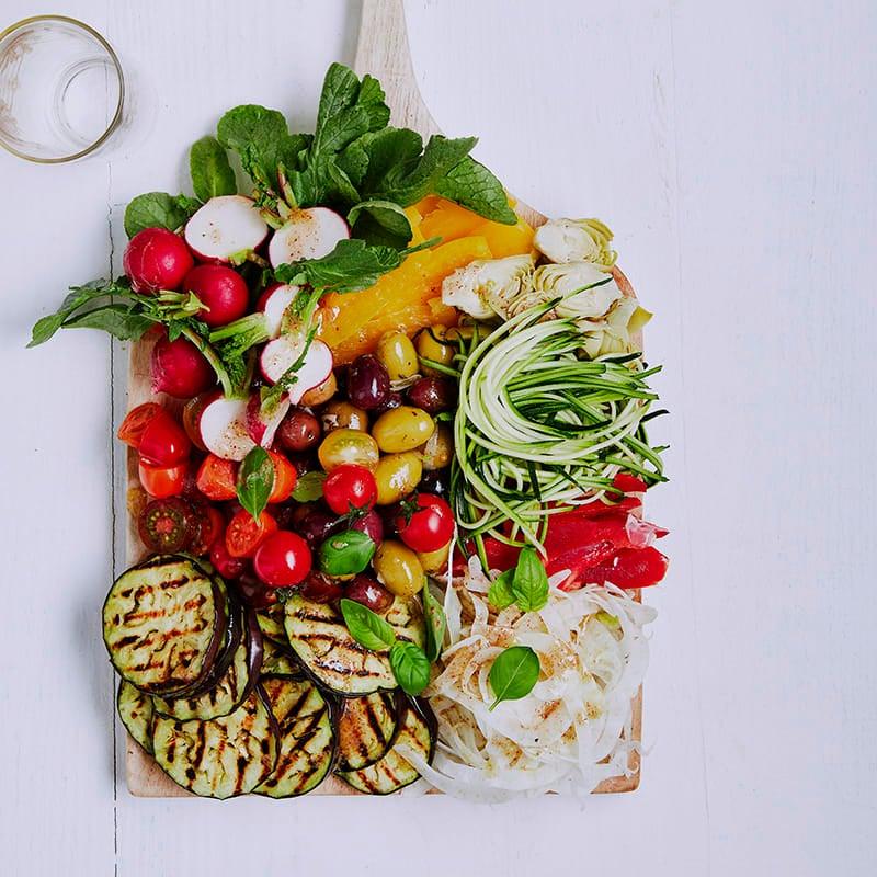 Photo of Mediterranean salad board by WW