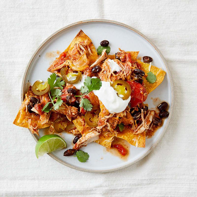 Photo of Slow-cooker shredded-chicken nachos by WW